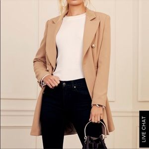NWT Lulus Captain Blog Double Breasted Pea Coat